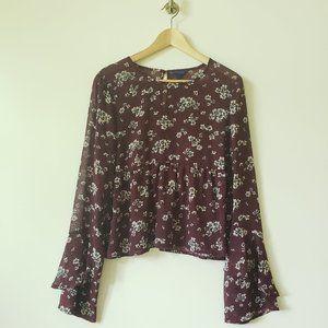 Aeropostale floral print blouse sz.L